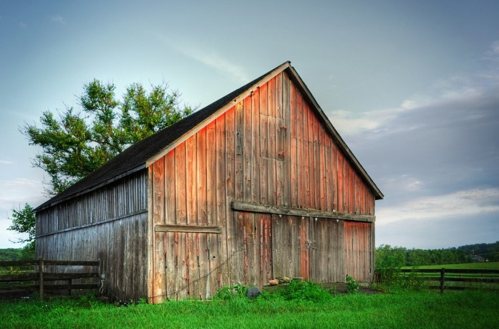 1. This old barn is in Wasco.