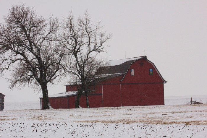 5. Who doesn't love a red barn in the snow?