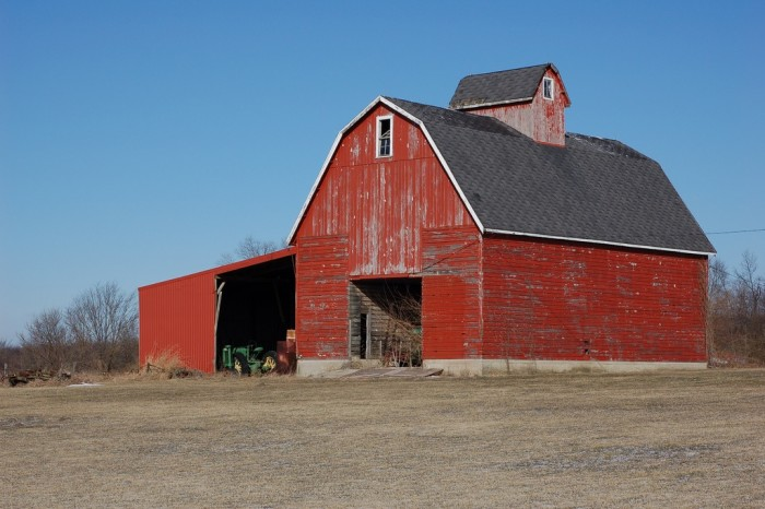 11. This big red barn sits proudly in McLean County.