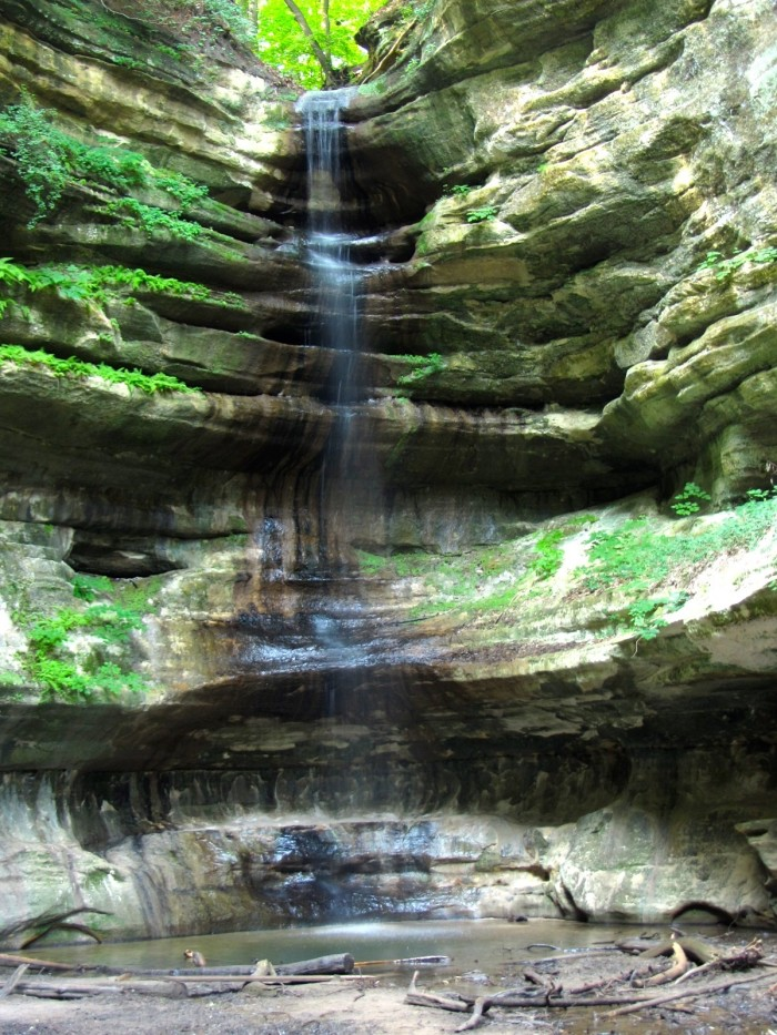 6. St. Louis Canyon Waterfall--Starved Rock (Utica)
