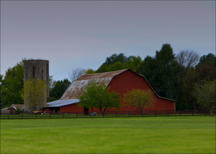 3. Distant Red Barn