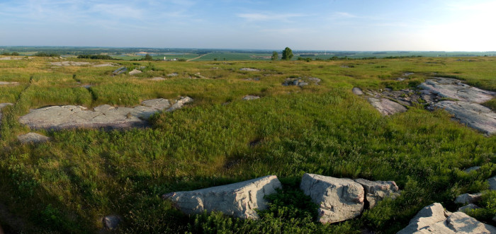 16 Blue Mounds State Park in Southwest MN offers stunning prairie views, especially atop Eagle Rock.