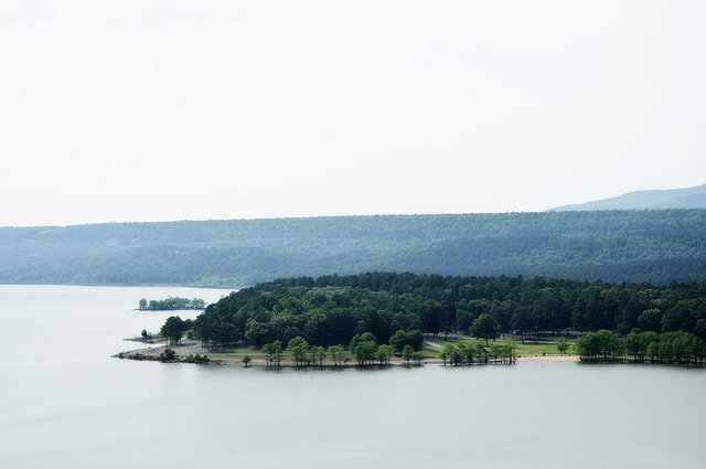 14. Blue Mountain Lake: Located in the shadow of Mount Magazine, Blue Mountain Lake has offered many recreational opportunities since its completion by the U.S. Army Corps of Engineers in 1947.