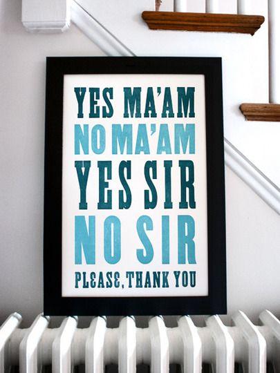 5) Yes Ma'am!