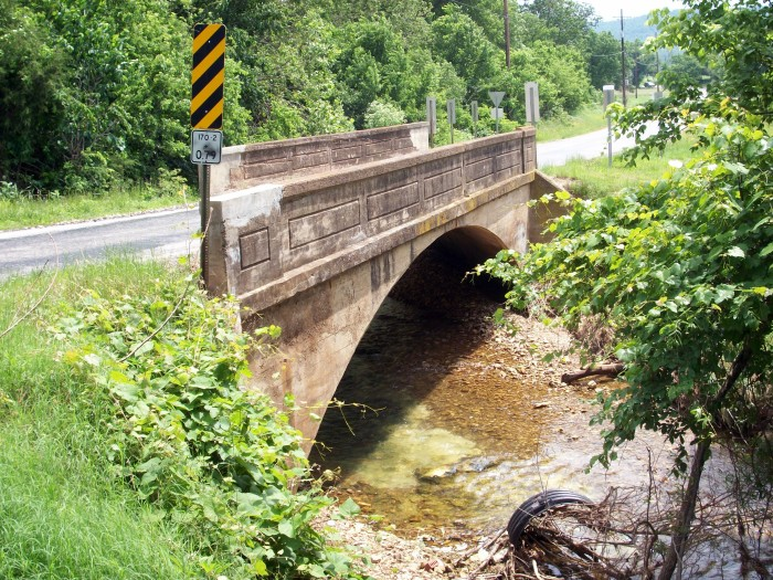12. Cane Hill Road Bridge: Also known as the Little Red River Bridge, this is a closed-spandrel arch bridge built in 1923 located near Prairie Grove, Arkansas.