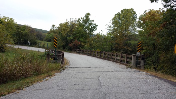18. Cannon Creek Bridge: Located in Madison County, Arkansas, this bridge was built in 1929 by Walsh & Thomas of Benton, Arkansas. It was made obsolete by a new bridge constructed in 1988.