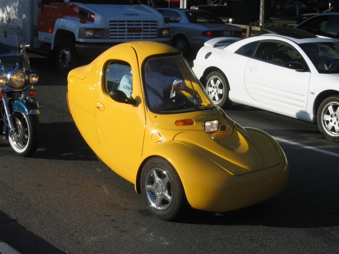 1. Check out this crazy Yellow Corbin Sparrow ride spotted around the Seattle area!