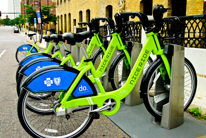 3 Take some nice ride bikes for a spin in Minneapolis and be a tourist for the day!