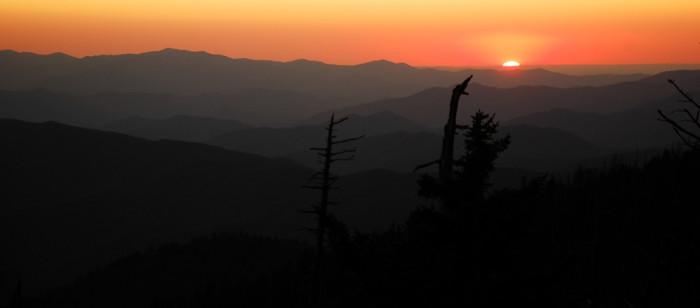7) Orange sunsets