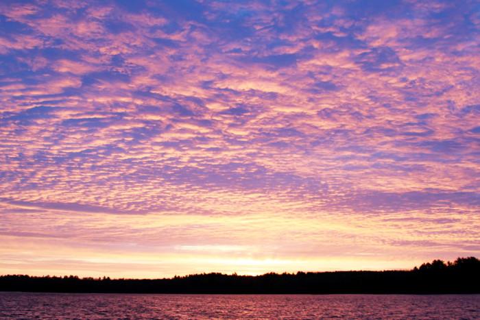4 Heavy purple clouds blanket the sky in Ely.