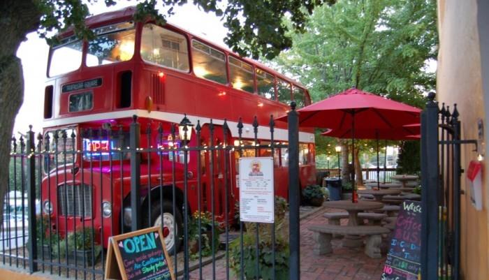 1. Is that a double decker bus in Asheville?