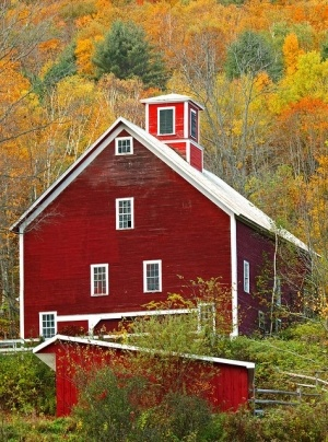 5) Red Farmhouse in Georgia
