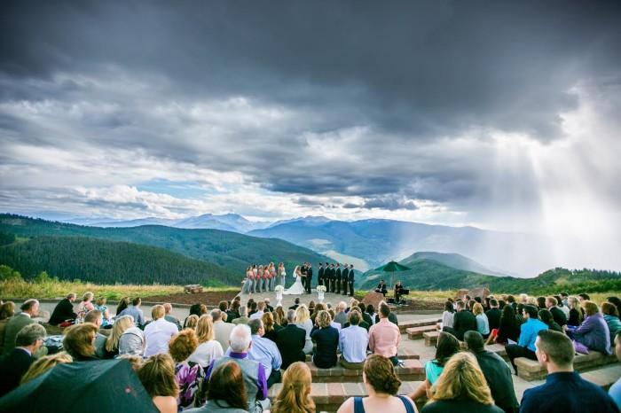 vail mountain wedding deck vail
