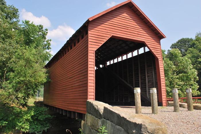 9. Dents Run Covered Bridge in Monongalia County