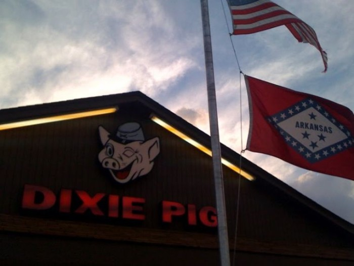 23. Dixie Pig: This third-generation-owned restaurant in Blytheville has been serving smoked barbecue since 1923.