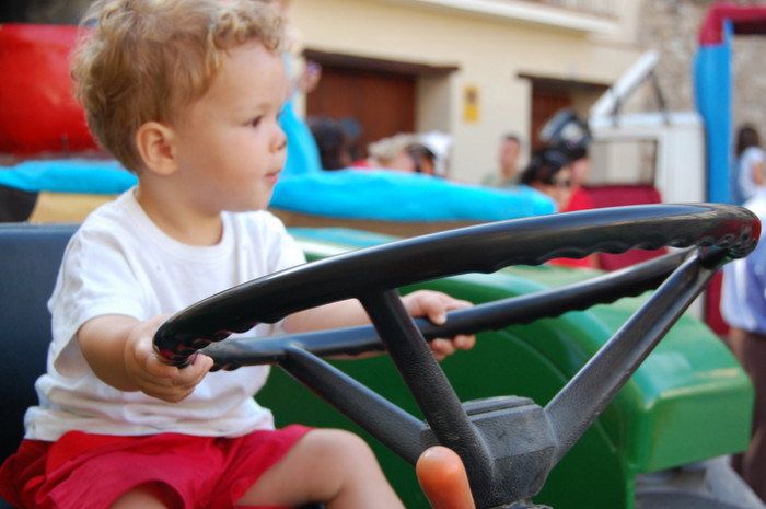 8. You drove your first tractor before you were out of diapers.