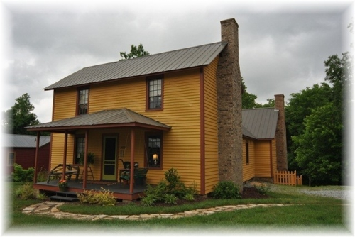 3. I just love the color of this historic Glencoe Mill House in Burlington.