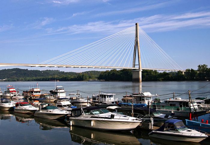 1. Frank Gatski Memorial Bridge in Huntington
