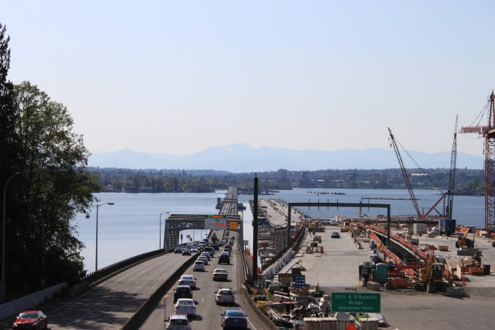 7. Evergreen Point Floating Bridge  (Also known as Albert D. Rosellini Bridge, and commonly called the SR 520 Bridge or 520 Bridge)
