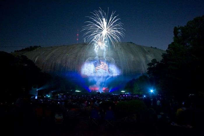 3) Stone Mountain Fantastic Fourth Celebration:  Thursday, July 2-5, 2015 1000 Robert East Lee Boulevard Stone Mountain, GA