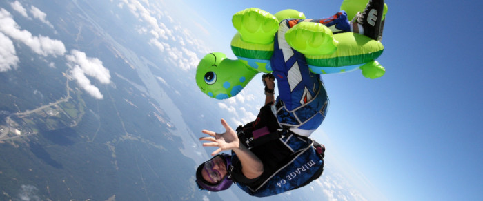 3. Or actually go skydiving!