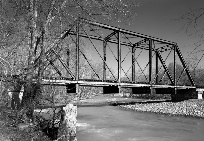 22. Frog Bayou Bridge: This historic bridge is located in Crawford County, Arkansas, just south of Mountainburg.