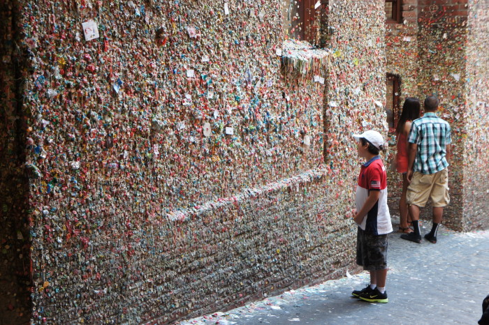 8. If you haven't seen the Seattle Gum Wall before, you're in for a real treat!