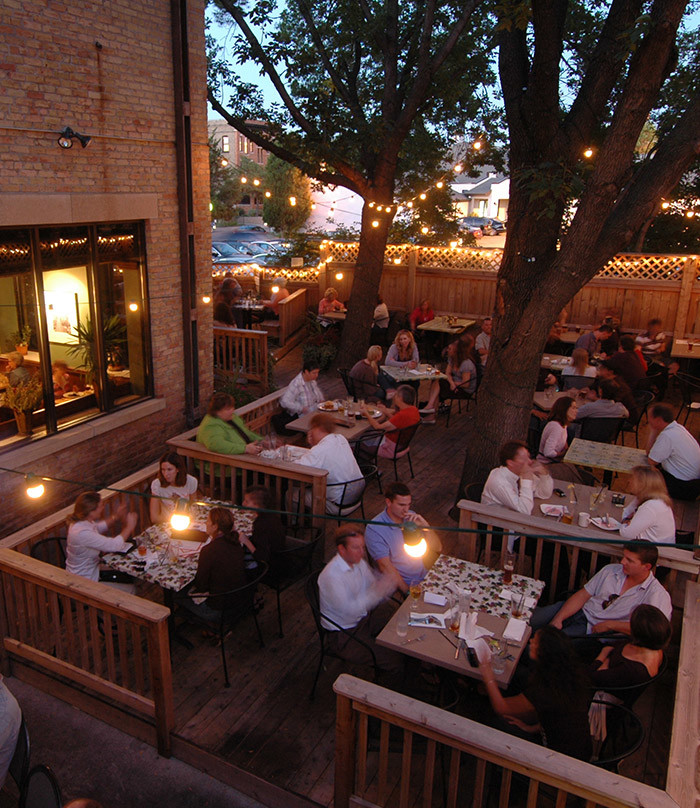 5. Happy Gnome in St Paul. The burgers are even better than the gorgeous patio!