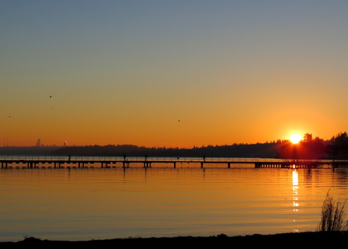 7. Catch the sun set at Juanita Beach Park in Kirkland!