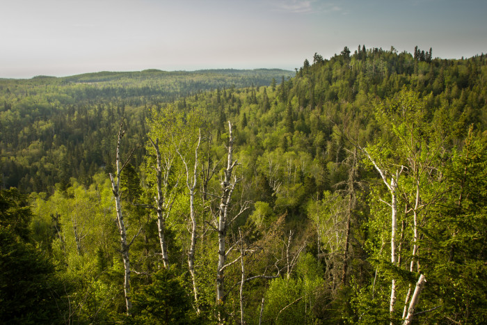 9 George Crosby Manitou State Park has 24 miles of rugged backcountry trails with spectacular views.