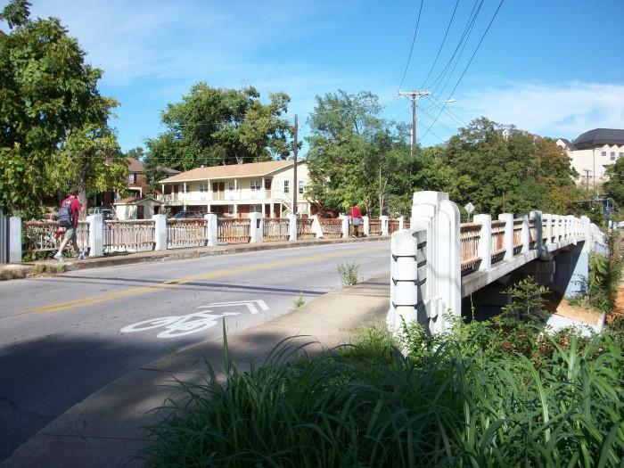 17. Lafayette Street Overpass: This historic bridge is located in Fayetteville, Arkansas.