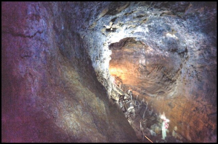 8) Lava River Cave at Newberry National Forest