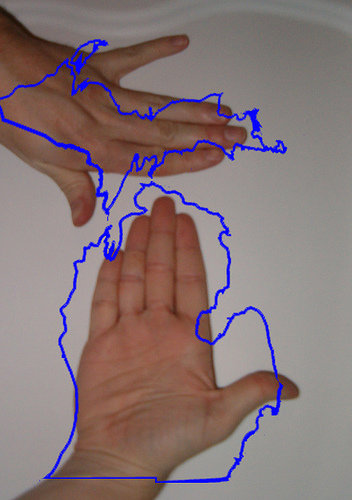 10) We get to use our hands as a map