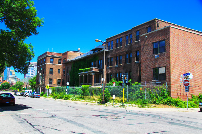 8 The historic Abbott Hospital in Minneapolis was a scene of overgrown weeds before it was turned into apartments.