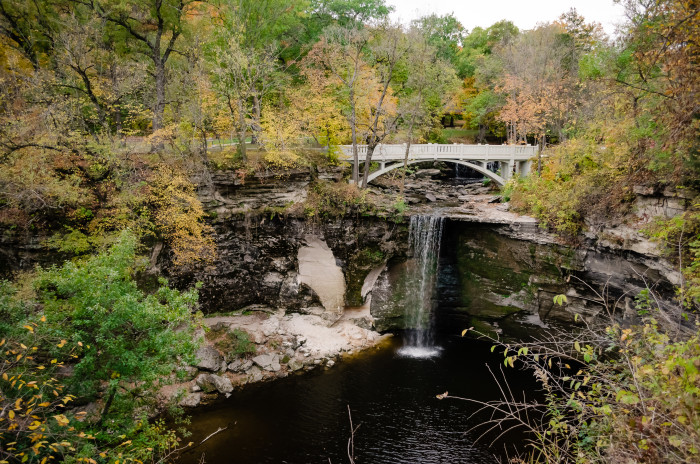13 Minneopa State Park in Mankato gives you a fantastic loop of the beautiful falls on Minneopa Creek in just a few short miles.