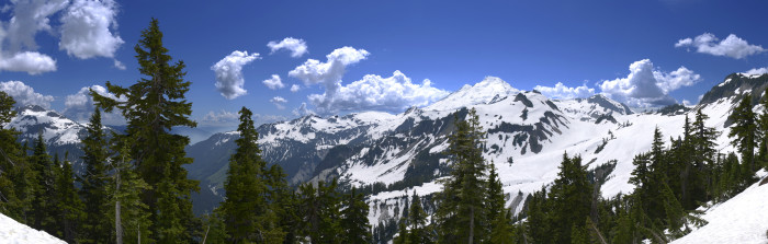 7. A phenomenal panorama of Mount Baker.