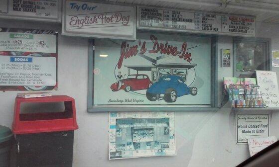 5. Jim's Drive-in in Lewisburg