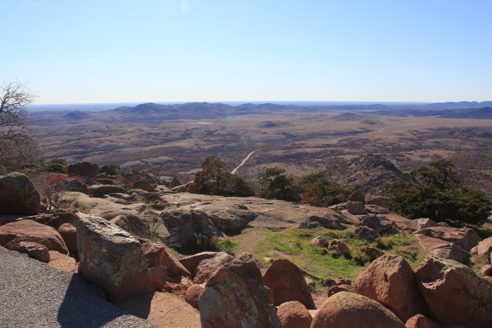 1. Mount Scott, located in the Wichita Mountains, is one of Oklahoma's most prominent mountains.