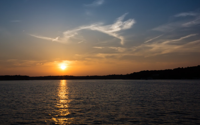 2. Don't miss an Oklahoma sunset on the stunning Grand Lake.