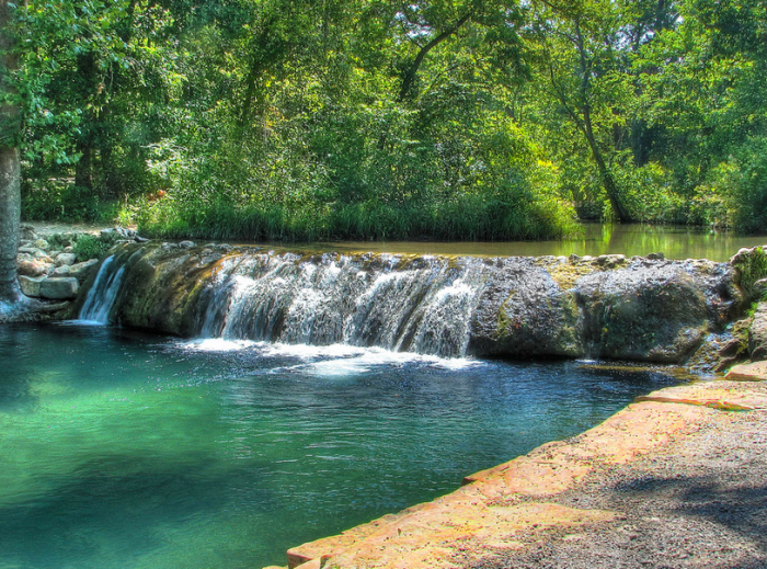10. Enjoy cold water all year round at Little Niagara on Travertine Creek. This popular swimming hole is a fun and cooling place during the hot Oklahoma summers.