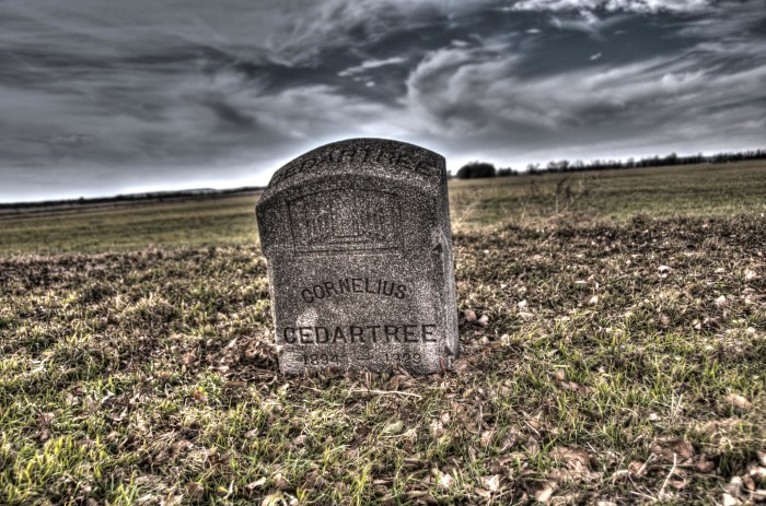 3.) This headstone can be found in an old cemetery in Kingfisher/Watonga.