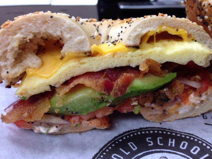 7.) Old School Bagel Cafe- Tulsa, Norman, OKC:  These famous bagels are boiled then baked and made to perfection. Try them with deli meat for lunch or make it breakfast style.  Menu suggestion:  The Reuben Sandwich on an onion bagel and a giant, homemade cookie.