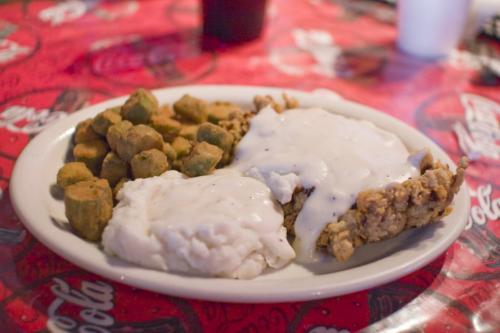15.) When chicken fried steak, fried okra and mashed potatoes are their favorite meal.