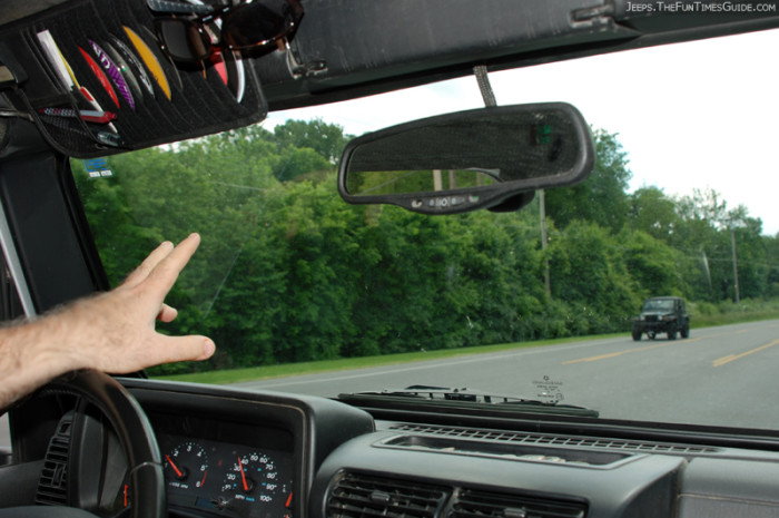 6.) They wave at others while driving.
