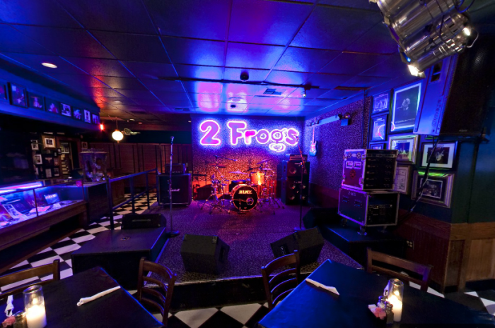 10.) Two Frogs Grill- Ardmore: Eat some of the best food in the state, including their award winning baby back ribs, while listening to some top name artists in the music industry.
