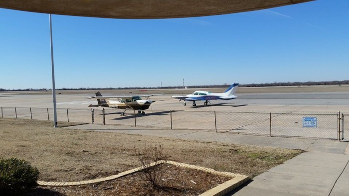 8.) Annie Okies Runway Cafe-Bethany: Eat your breakfast or lunch in an unforgettable setting...right under the control tower at Wiley Post Airport.