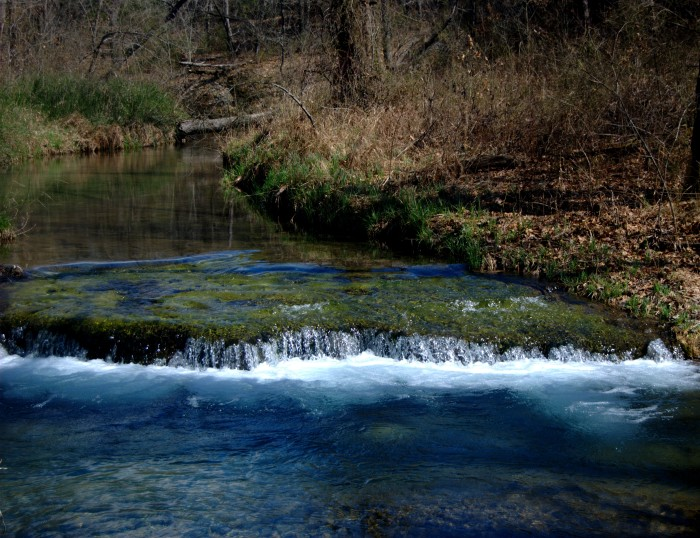 2. Buffalo Springs-Sulphur, OK: Located in Chickasaw National Recreation Area, this spring offers a hiking trail right along the side of it.