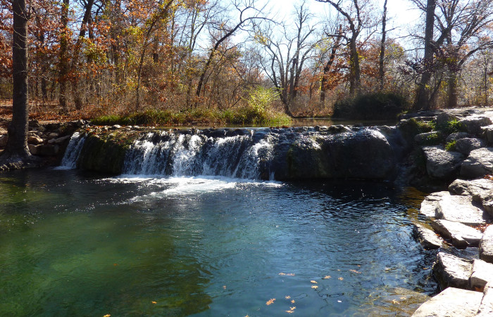 8. Little Niagara at Travertine Falls-Sulphur, OK: The most popular falls in Chickasaw National Recreation can be found in Travertine.  Enjoy swimming in the the ice-cold water.