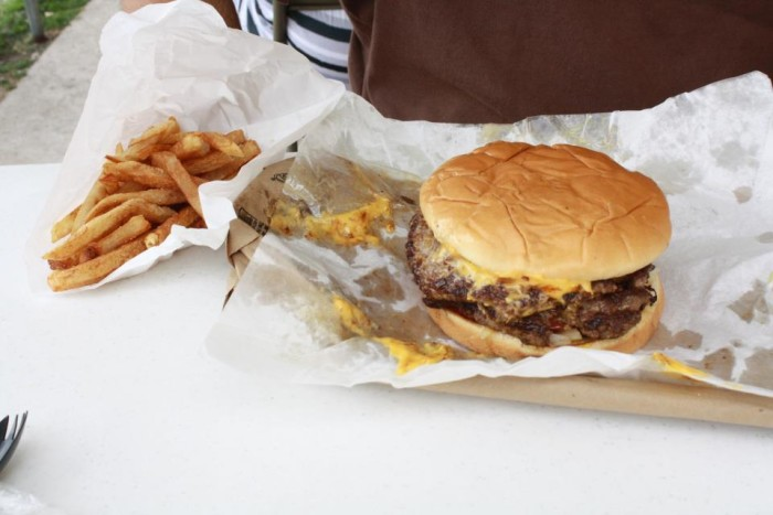 2.) Bills Jumbo Burgers- Tulsa.  Grab a good old fashioned burger on old Route 66.  More of a carry-out style since there are only a few stools.  With burgers this good, plan on a wait during lunch hours.