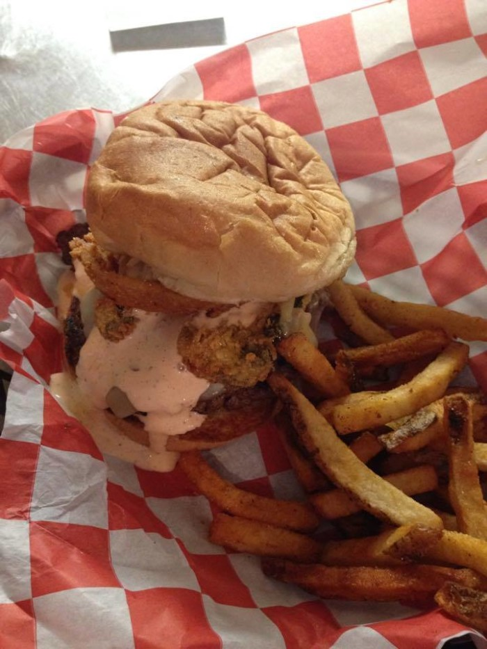 """8.) Irmas Burger Shack-OKC.   As Irma says, """"Ain't nothing a good burger and a cold beer can't cure.""""   Stop by and grab the famous """"No Name Burger""""...some of the best beef in the state."""